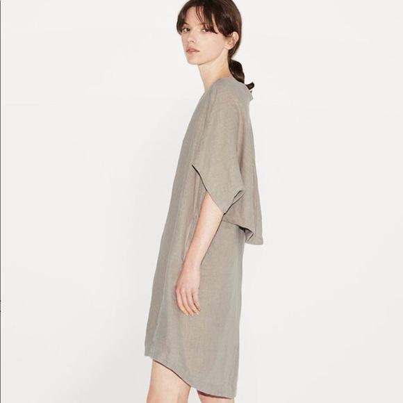 Black Crane Dresses & Skirts - Black Crane Geometric Linen Dress La Garconne Sz M